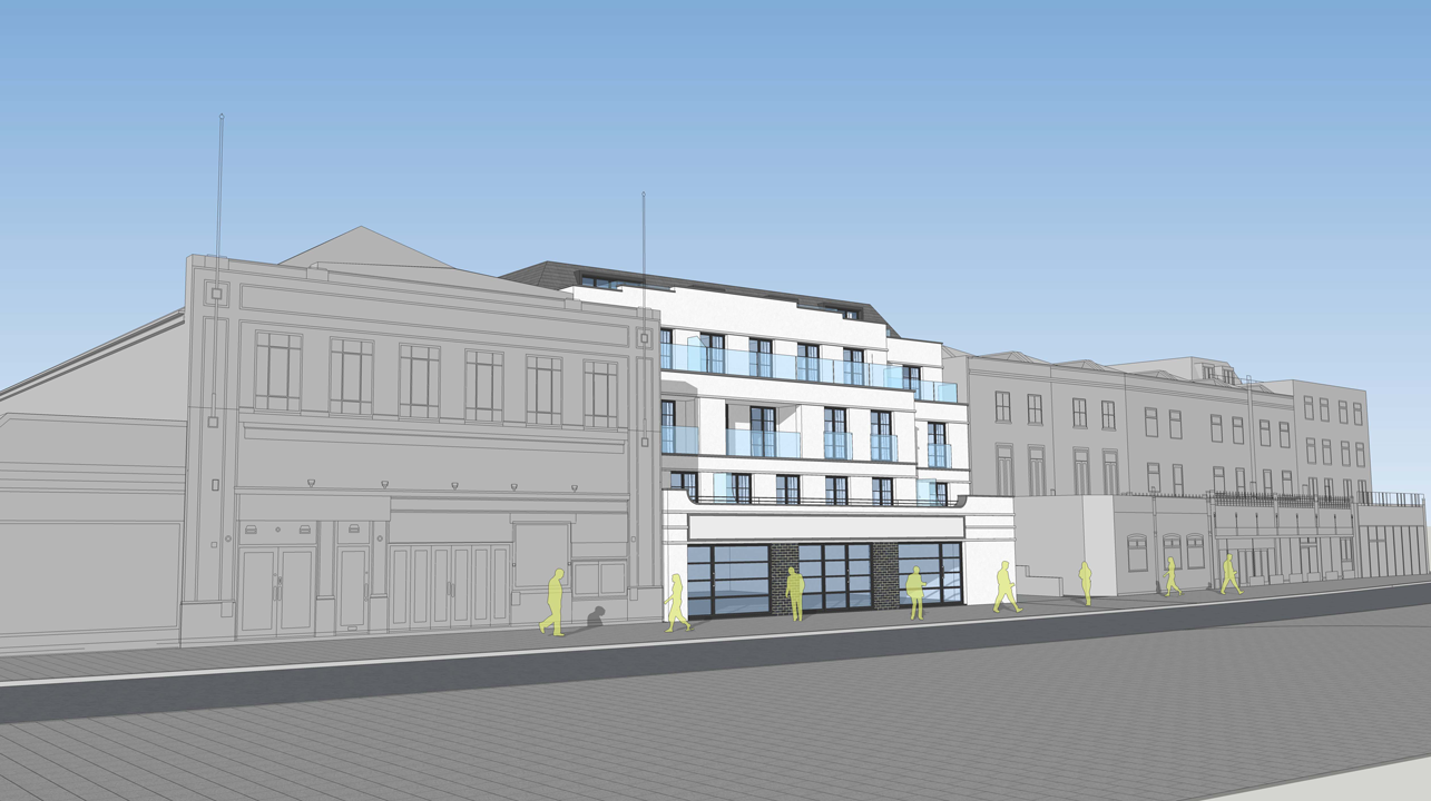 Close up External Front View of Central Parade Development CGI