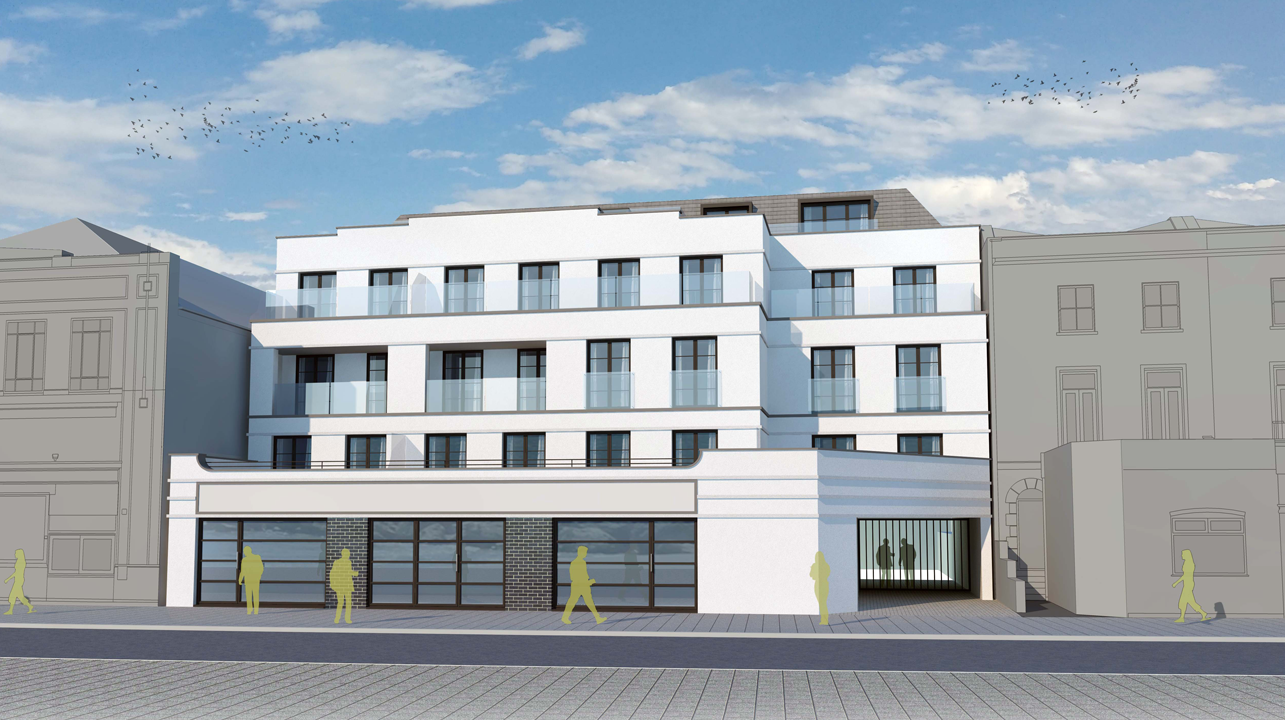 External Front View of Central Parade Development CGI