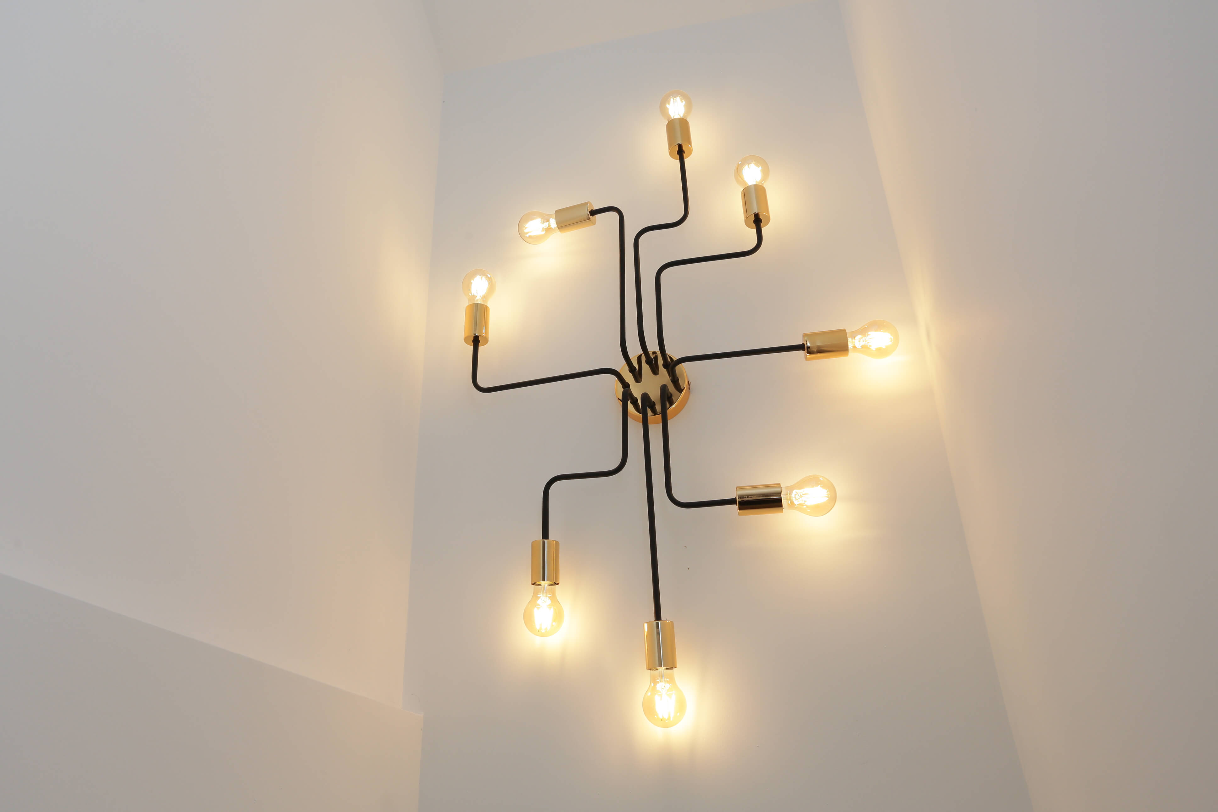 close up of contemporary multiple light fitting
