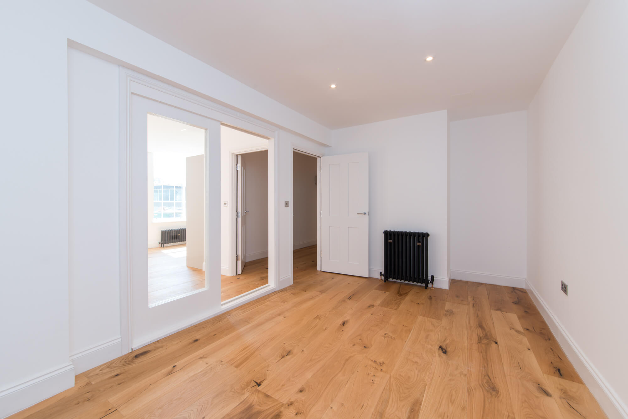room with natural oiled oak wooden flooring
